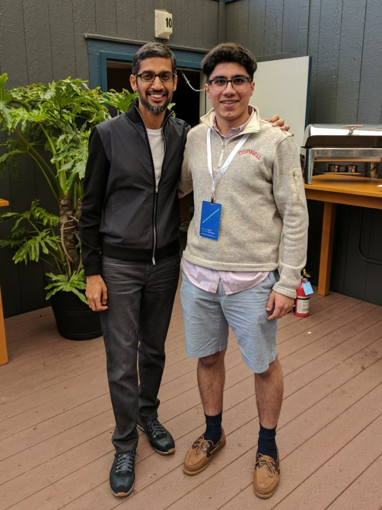 sundar Pichai and Abu Qader